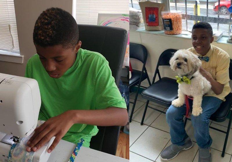 Garoto de 12 anos faz gravatinhas para incentivar adoção de cães e gatos