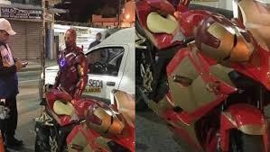 Homem de Ferro foi parado e multado em blitz da Lei Seca