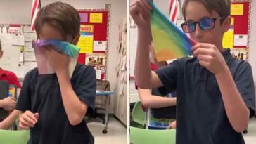 Garoto usou mesada e comprou óculos especiais para amigo daltônico ver cores