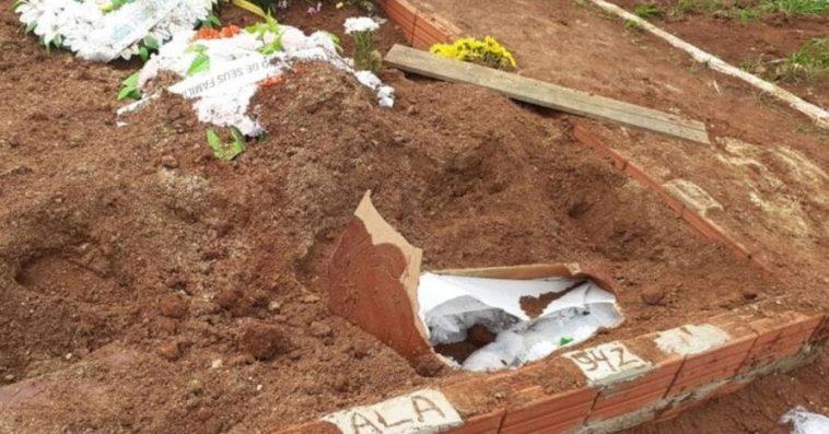 Corpo de mulher é encontrado fora do túmulo com sinais de abuso sexual