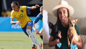 Jogadora Marta construiu abrigo para animais abandonados no Sertão de Alagoas