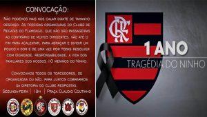 Torcidas organizadas do Flamengo convocam protesto em prol das vítimas do incêndio no Ninho