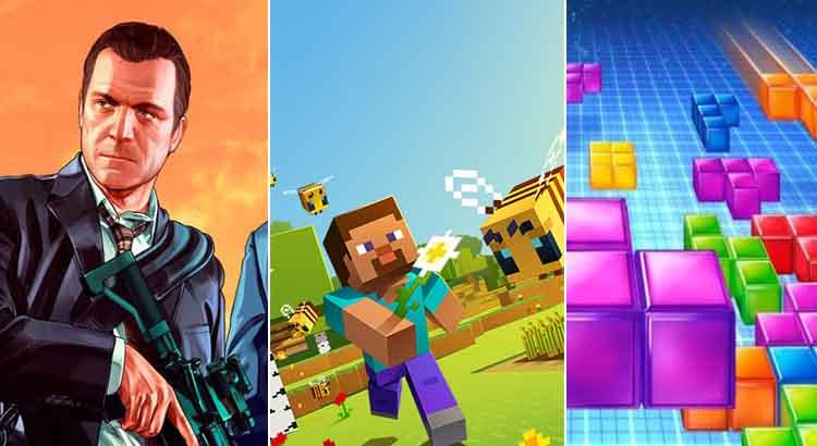 Vídeo mostra os jogos de videogame mais vendidos do mundo ao longo dos anos