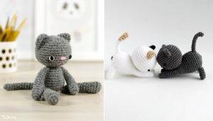 Gatinhos de crochê em estilos variados para te inspirar