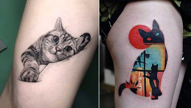 Tatuagens de gatinho incrivelmente criativas para te inspirar
