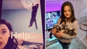 Garota doTikTokteve vídeo arruinado por gato pendurado no lustre