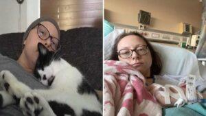 Mulher afirma que o gato sabia sobre câncer e salvou a vida dela