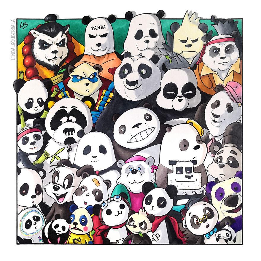 Tente reconhecer todos esses animais pandas