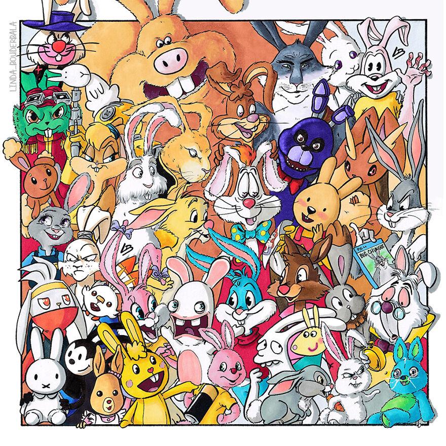 personagens coelhos
