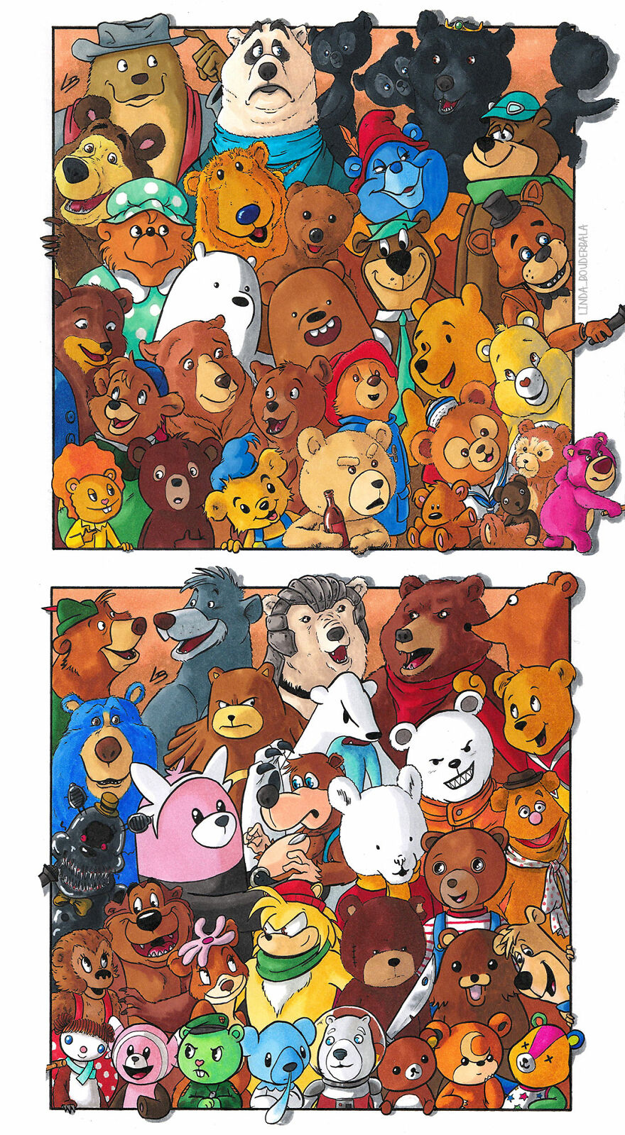 personagens ursos