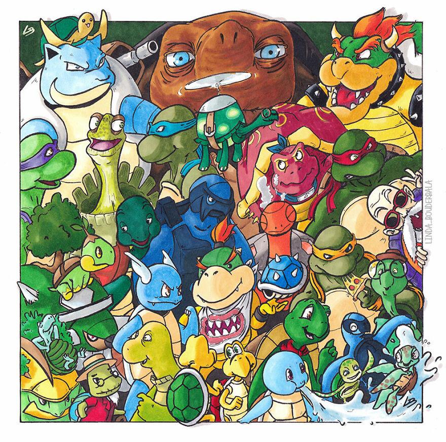 tartarugas dos desenhos animados