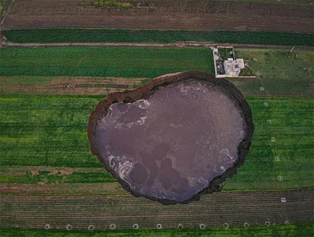 Cratera misteriosa não para de crescer