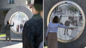 Lituânia e Polônia construíram um portal ligando duas cidades