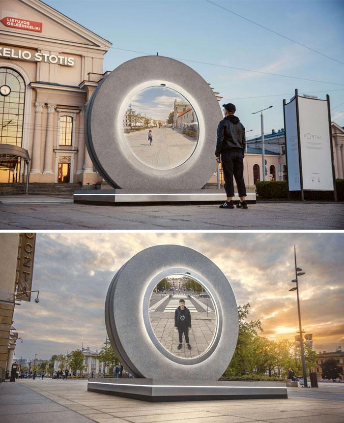 Lituânia e Polônia construíram um portal entre cidades
