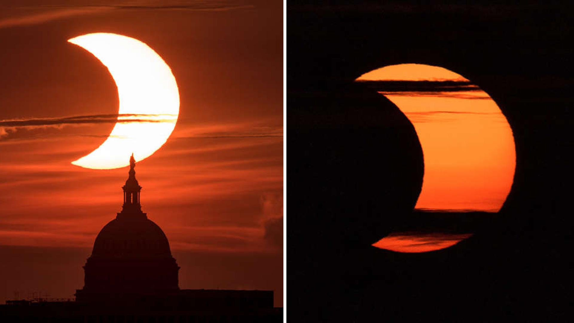 Nasa divulgou fotos e vídeo do eclipse