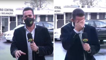 Repórter não consegue parar de rir