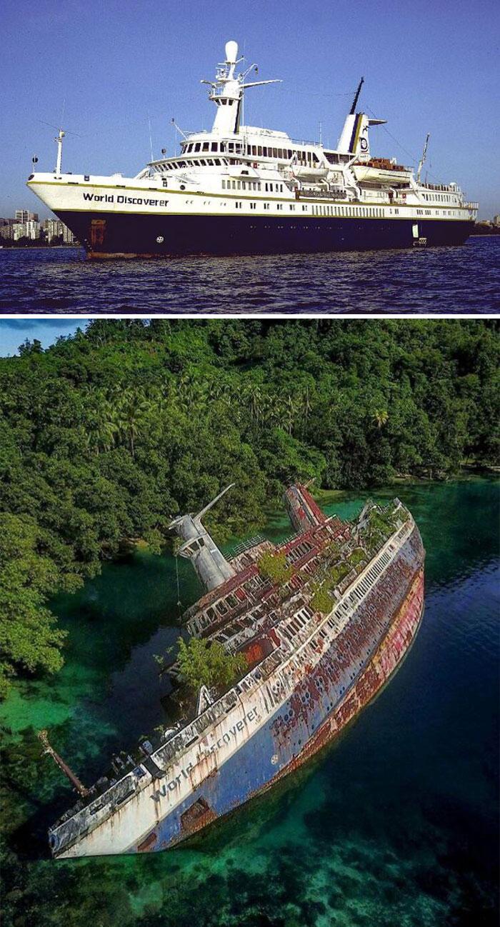 imagens de navios afundados