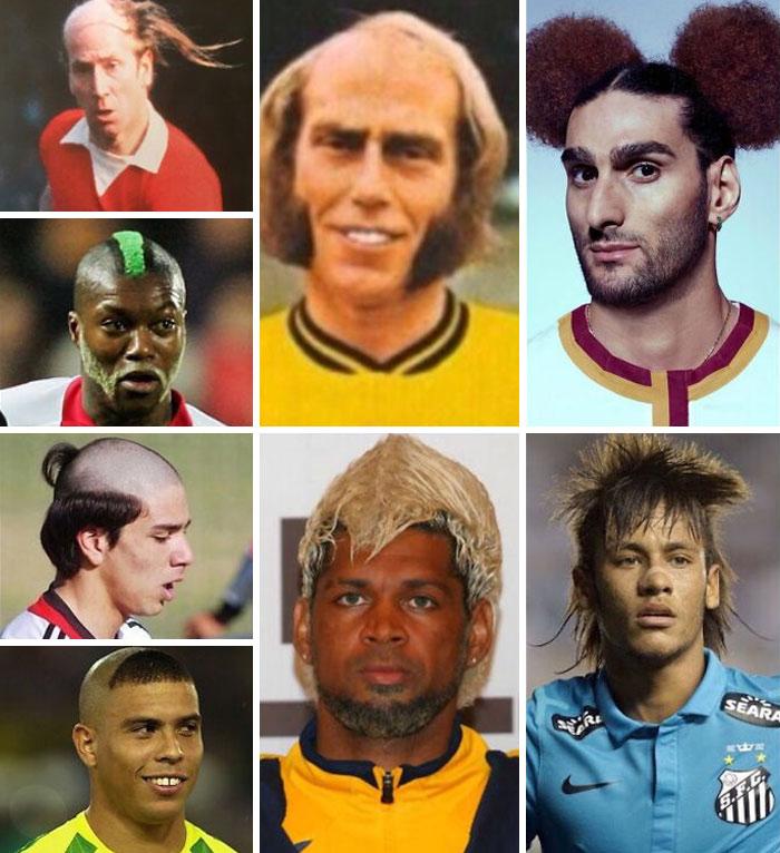 jogadores de futebol penteados
