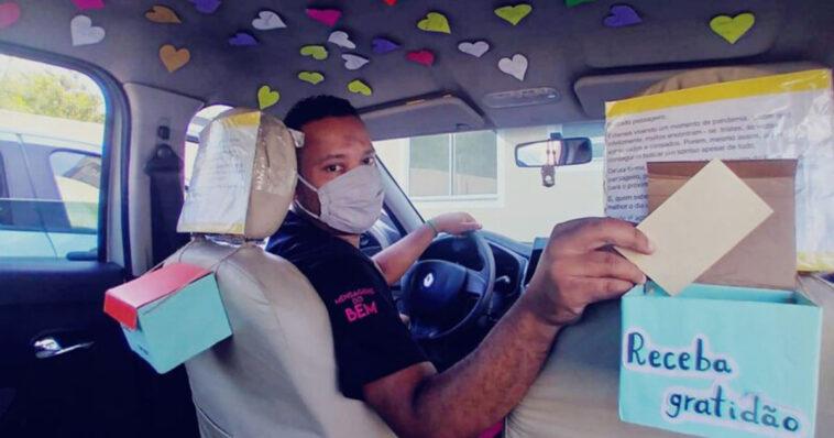 Motorista por aplicativo mensagens positivas