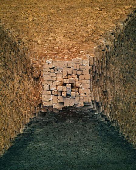 fotos do topo da Grande Pirâmide de Gizé