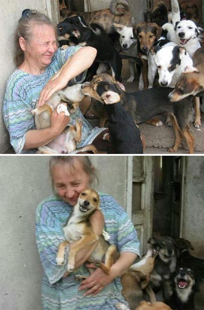 Sérvio criou um abrigo com a mãe