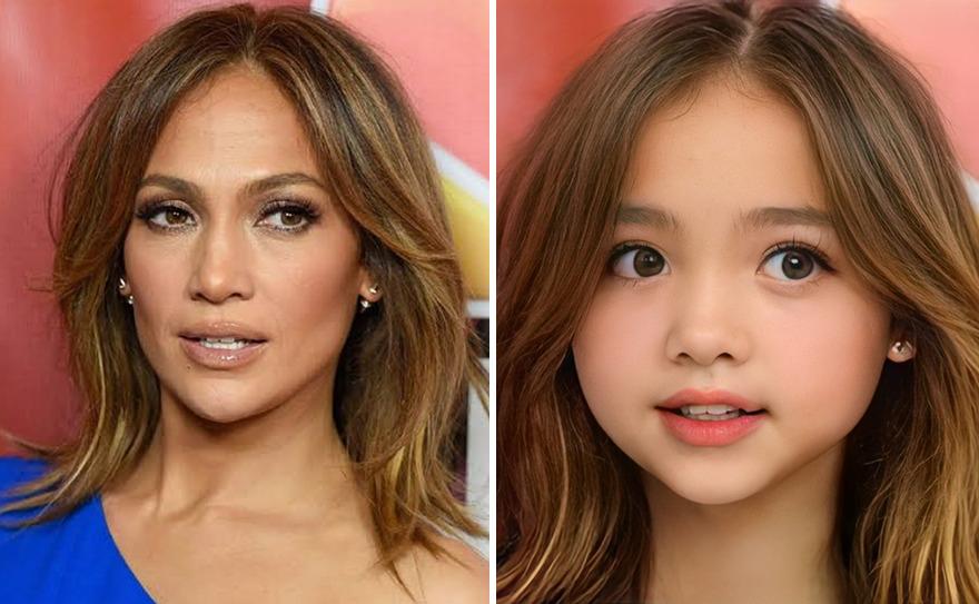 Inteligência Artificial transforma Jennifer Lopez