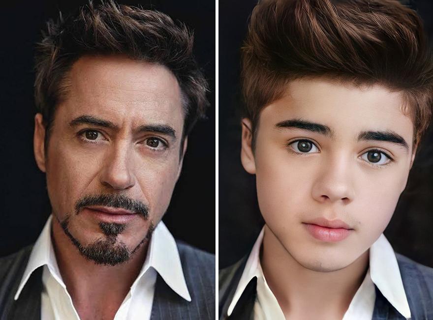 Robert Downey junior jovem